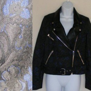 new ABS Motorcycle Jacket, S Jacquard Black Floral